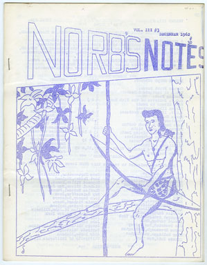 NORB'S NOTES #30 (1962) EDGAR RICE BURROUGHS FANZINE