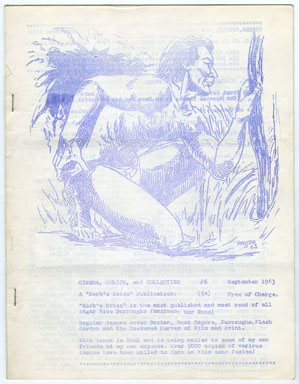 NORB'S NOTES #54 (1963) EDGAR RICE BURROUGHS FANZINE