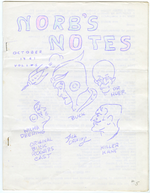 NORB'S NOTES #5 (1961) EDGAR RICE BURROUGHS FANZINE
