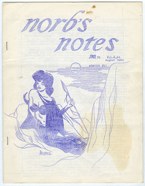NORB'S NOTES #70 (1964) EDGAR RICE BURROUGHS FANZINE