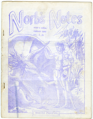 NORB'S NOTES #9 (1962) EDGAR RICE BURROUGHS FANZINE