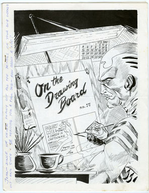 ON THE DRAWING BOARD #61 (1967) FANZINE / RONN FOSS COVER / BILL SPICER