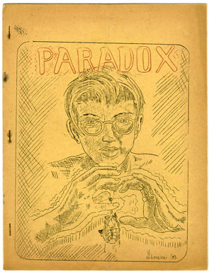 PARADOX #4 (1943) SCIENCE FICTION FANZINE / JIM MOONEY BACK COVER