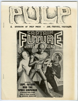 PULP V1 #3 (1971) FANZINE / CAPTAIN FUTURE / THE SHADOW