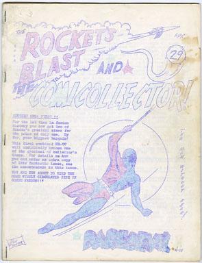 ROCKET'S BLAST COMICOLLECTOR #29 (1964) FANZINE /RBCC/BUDDY SAUNDERS/BILJO WHITE