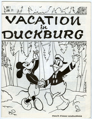 VACATION IN DUCKSBURG #1 (1971) FANZINE / WALT DISNEY / CARL BARKS