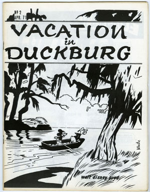 VACATION IN DUCKSBURG #2 (1971) FANZINE / WALT DISNEY COMICS / CARL BARKS