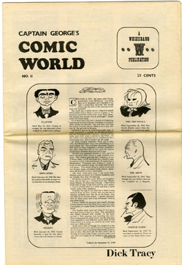 CAPTAIN GEORGE COMIC WORLD #11 (1969) NOSTALGIA FANZINE - DICK TRACY