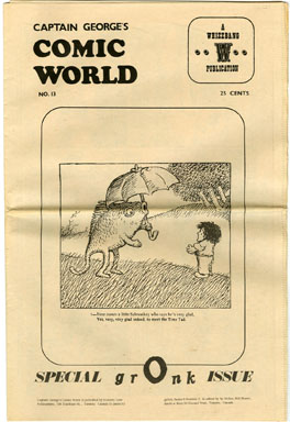 CAPTAIN GEORGE COMIC WORLD #13 (1969) NOSTALGIA FANZINE TERRORS OF THE TINY TADS