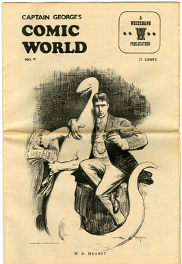 CAPTAIN GEORGE COMIC WORLD #19 (1969) NOSTALGIA FANZINE - LITTLE ORPHAN ANNIE