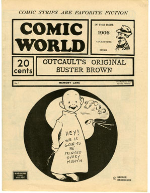 CAPTAIN GEORGE COMIC WORLD #1 (1960s) NOSTALGIA FANZINE - BUSTER BROWN / RAREBIT