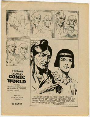 CAPTAIN GEORGE COMIC WORLD #5 (1960s) NOSTALGIA FANZINE - HOW TO DRAW ISSUE
