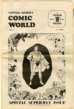 CAPTAIN GEORGE COMIC WORLD #7 (1969) NOSTALGIA FANZINE - SUPERMAN ISSUE