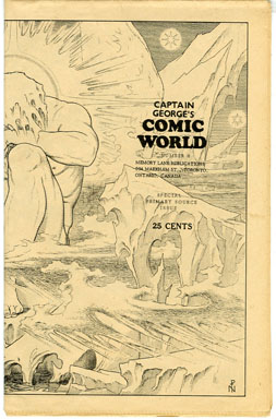CAPTAIN GEORGE COMIC WORLD #8 (1969) NOSTALGIA FANZINE -NOEL PATON ILLUSTRATIONS