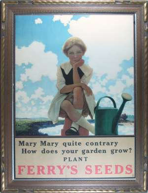 MAXFIELD PARRISH- MARY MARY FERRYS SEEDS Vintage Poster