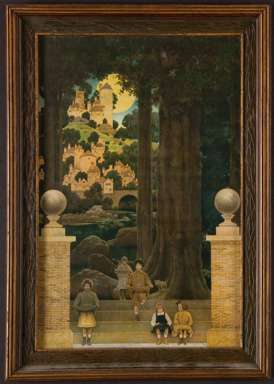 MAXFIELD PARRISH - Original THE SUGAR PLUM TREE Lithograph - c1905