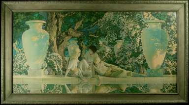 "MAXFIELD PARRISH - 1918 ""The GARDEN OF ALLAH"" Print"