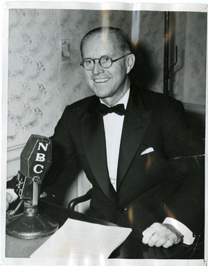 NEWS PHOTO: JOSEPH P. KENNEDY - RADIO SPEECH (1941)