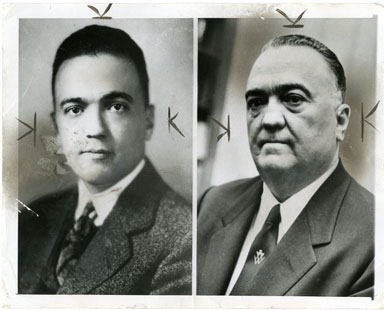 NEWS PHOTO: J. EDGAR HOOVER - YOUNG & OLD (1954)