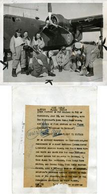 NEWS PHOTO: WORLD WAR II: AMERICAN CONSOLIDATED LIBERATOR BOMBING PLANE (1944)