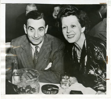 NEWS PHOTO: COMPOSER IRVING BERLIN AND WIFE AT NEW YORK NIGHTCLUB (1946)