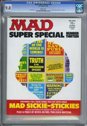 MAD SUPER SPECIAL #13 (1974) CGC NM/MT 9.8 WHITE - SICKIE STICKERS - AL JAFFEE