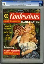 CONFESSIONS ILLUSTRATED #1 (1956) CGC NM+ 9.6 OW GAINES
