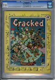 CRACKED #1 (1958) CGC VF- 7.5 GUNSMOKE TV Parody - HIGHEST GRADED!