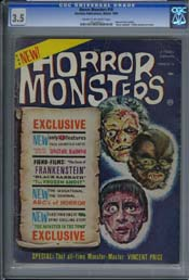 HORROR MONSTERS #10 (1964) CGC VG- 3.5 COW Pages - BLACK SABBATH (1963)
