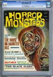 "HORROR MONSTERS #9 (1964) CGC VF+ 8.5 ""Mothra,"" ""House on Haunted Hill"" & George Zucco Articles"