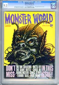 MONSTER WORLD #3 (1965) CGC NM- 9.2 - OWW Pgs - BELA LUGOSI - SHE CREATURE