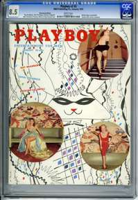 PLAYBOY v2 #2 (1955) CGC VF+ 8.5 WHT Pg BETTIE PAGE - EARTHA KITT - RAY BRADBURY