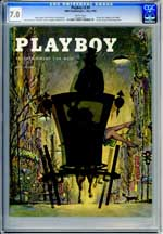 PLAYBOY v2 #5 (1955) CGC FN/VF 7.0 WHITE Pgs - MARGUERITE EMPEY - BUNNY YEAGER