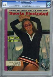 SPORTS ILLUSTRATED VOL. 32 #2 (1970) CGC VG- 3.5 SWIMSUIT 1st CHERYL TIEGS Cover