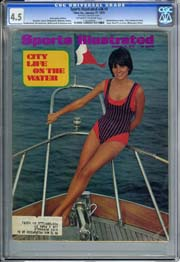 SPORTS ILLUSTRATED VOL. 36 #3 (1972) CGC VG+ 4.5 SWIMSUIT Sheila Roscoe Cover