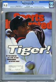 SPORTS ILLUSTRATED VOL. 85 #18 (1996) CGC VF/NM 9.0 1st TIGER WOODS COVER!