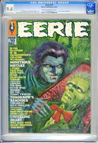 EERIE #19 (1968) CGC NM 9.4 COW Pages - TOM SUTTON - HIGHEST GRADED COPY!
