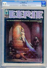 EERIE #23 (1969) CGC NM- 9.2 WHITE Pgs - EGYPTIAN PRINCESSS FRANK FRAZETTA Cover