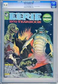 EERIE YEARBOOK #NN (1970) CGC NM 9.4 OWW Pages - 1st COLLECTORS EDITION -