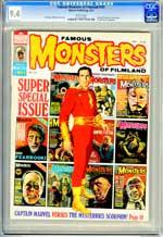 FAMOUS MONSTERS OF FILMLAND #101 (1973) CGC NM 9.4 WHT Pgs - CAPTAIN MARVEL