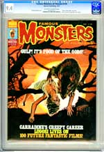FAMOUS MONSTERS OF FILMLAND #128 (1976) CGC NM 9.4 OWW Pgs - FOOD OF THE GODS