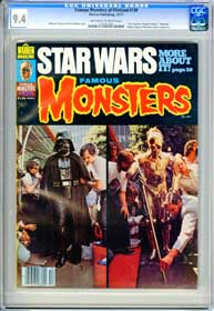 FAMOUS MONSTERS #139 (1977) CGC NM 9.4 OWW STAR WARS - FEARLESS VAMPIRE KILLERS