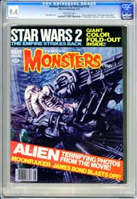 FAMOUS MONSTERS #156 (1979)CGC NM 9.4 OW ALIEN - MOONRAKER - EMPIRE STRIKES BACK