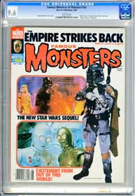 FAMOUS MONSTERS #166 (1980) CGC NM+ 9.6 WHT - DAWN OF THE DEAD - EMPIRE STRIKES