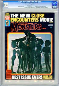 FAMOUS MONSTERS #168 (1980) CGC NM 9.4 OW Pg - JAWS - CLOSE ENCOUNTERS