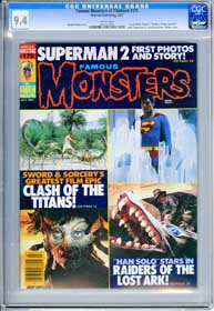 FAMOUS MONSTERS #175 (1981) CGC NM 9.4 WHT Pg - CLASH OF THE TITANS - SUPERMAN 2