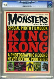 FAMOUS MONSTERS F FILMLAND #25 (1963) CGC VF+ 8.5 OWW Pgs - KING KONG