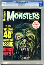FAMOUS MONSTERS OF FILMLAND #40 (1966) CGC VF/NM 9.0 COW  Pgs THE SHE CREATURE