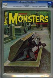 FAMOUS MONSTERS #43 (1967) CGC NM 9.4 OW Pages - HOUSE OF DRACULA Filmbook