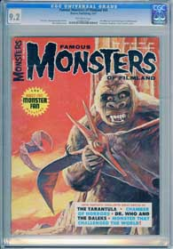 FAMOUS MONSTERS OF FILMLAND #44 (1967)  CGC NM 9.4 OW Pg TARANTULA BORIS KARLOFF